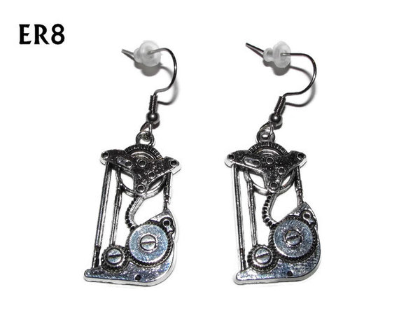 Earrings, Steampunk Pulley