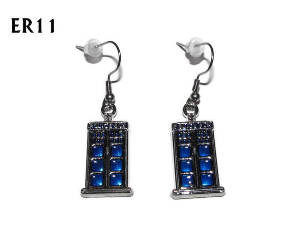Earrings, Tardis, Doctor Who