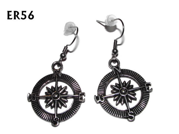 Earrings, Compass