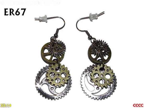 Earrings, Gears