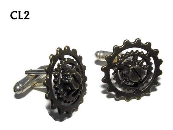 Cufflinks, Gears, Bronze