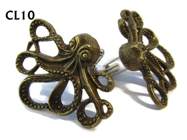Cufflinks, Octopus bronze