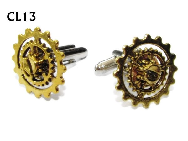 Cufflinks, Gears Gold