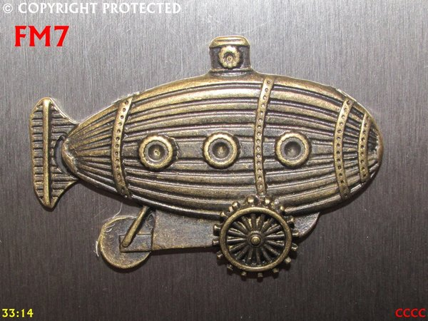 Fridge Magnet, Submarine Crawler, Bronze