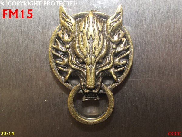 Fridge Magnet, Wolf bronze