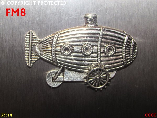 Fridge Magnet, Submarine Crawler, Silver
