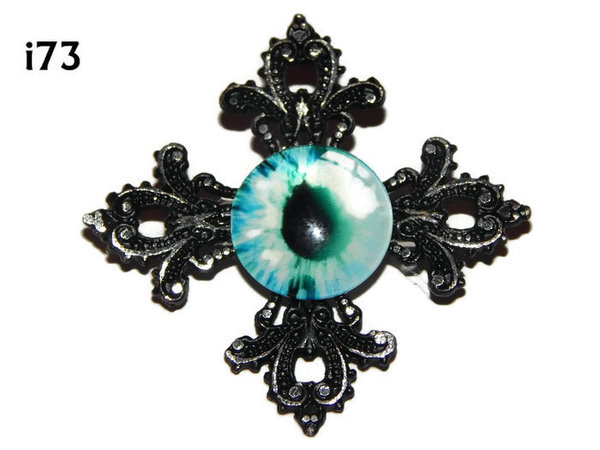 Badge, Eye i#73  Gothic Cross (55x55mm)