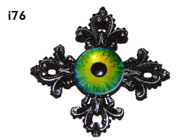 Badge, Eye i#76  Gothic Cross (55x55mm)