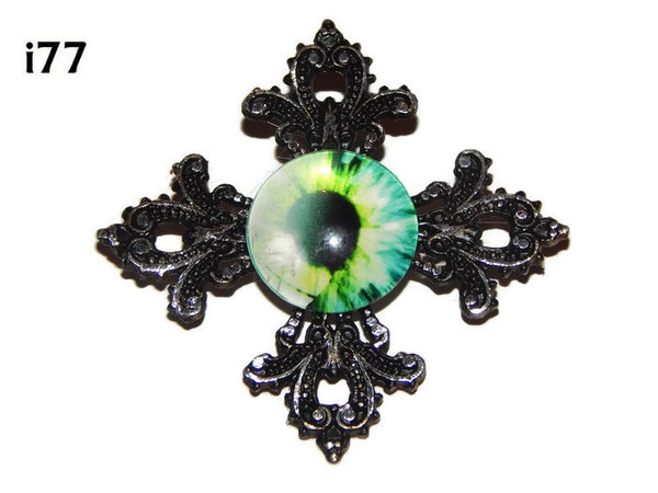 Badge, Eye i#77  Gothic Cross (55x55mm)