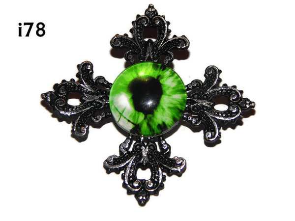 Badge, Eye i#78  Gothic Cross (55x55mm)