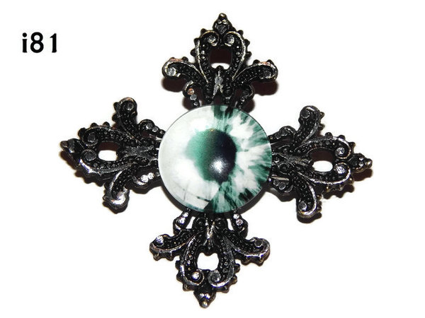 Badge, Eye i#81  Gothic Cross (55x55mm)