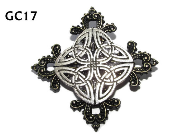 Badge, GC17, Celtic Knot, Gothic Cross (55x55mm)