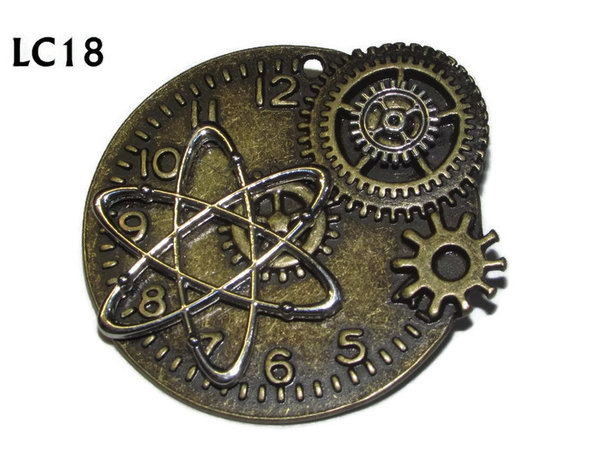 Badge/ Brooch, LC18, Atomic Clock, bronze (45x45mm)
