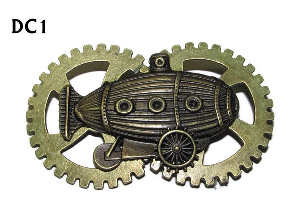 Badge / Brooch, DC01, Sub Crawler Bronze, bronze Double Gear