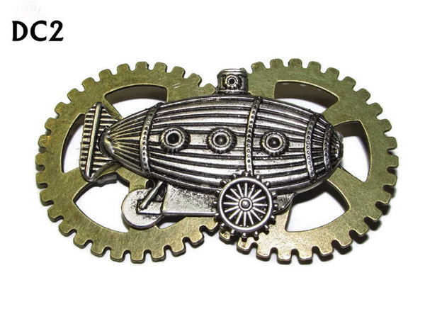Badge / Brooch, DC02, Sub Crawler Silver, Double Gear