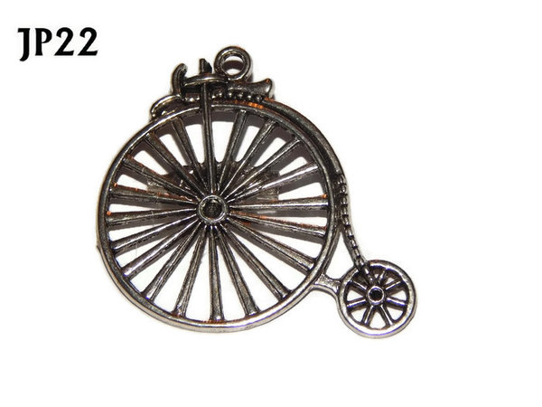 Badge / Brooch, JP22, Silver coloured Penny Farthing