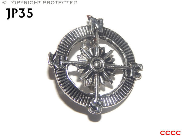 Badge / Brooch, JP36, Bronze coloured Clock Mechanism casting