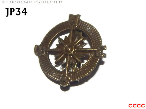 Badge / Brooch, JP34, Bronze coloured Compass