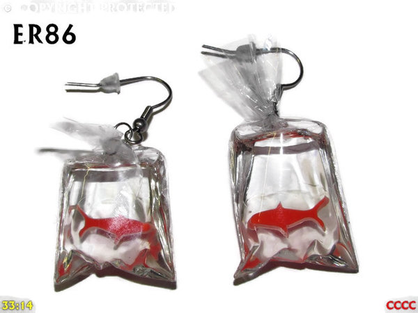 Earrings, Goldfish ER86