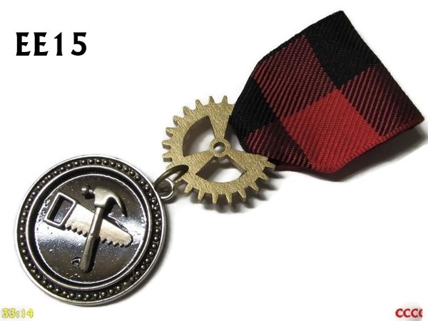 Medal, MEE15, Hammer & Saw, Carpenter