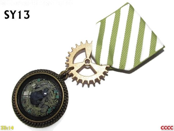 Medal, MSY13, Wooden pentacle graphic