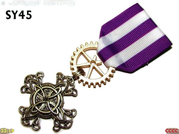 Medal, MSY45, Witch's knot cross