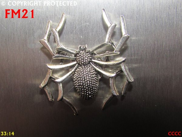 Fridge Magnet, Spider silver
