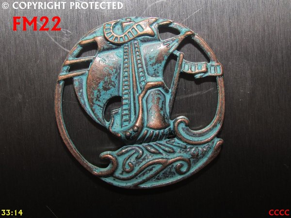 Fridge Magnet, Ship, weathered copper