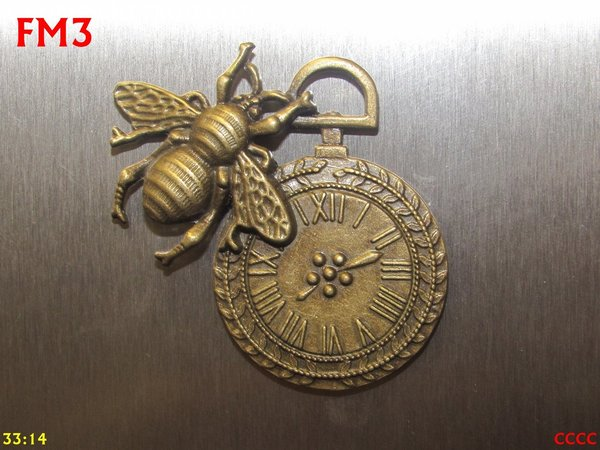 Fridge Magnet, Bee Clock