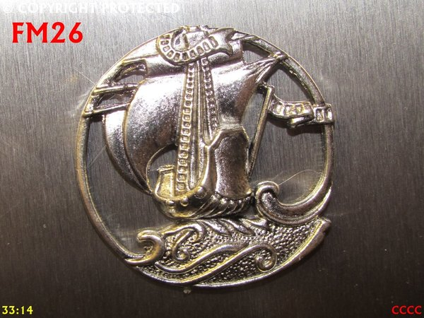 Fridge Magnet, Ship, silver