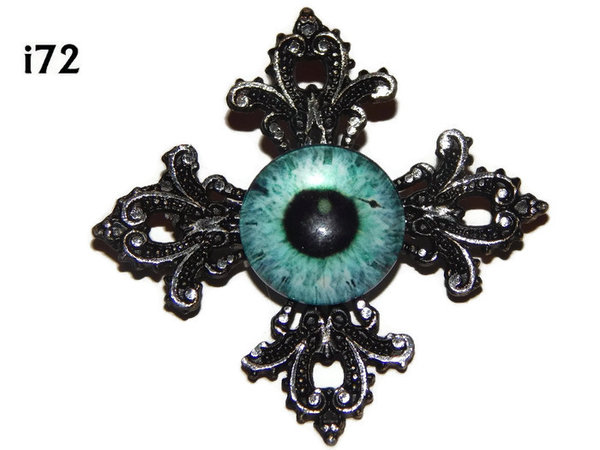 Badge, Eye i#72  Gothic Cross (55x55mm)