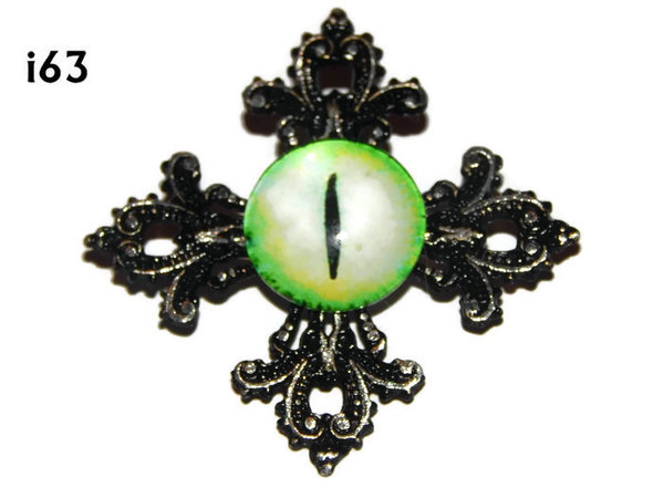 Badge, Eye i#63  Gothic Cross (55x55mm)