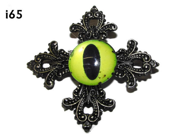 Badge, Eye i#65  Gothic Cross (55x55mm)