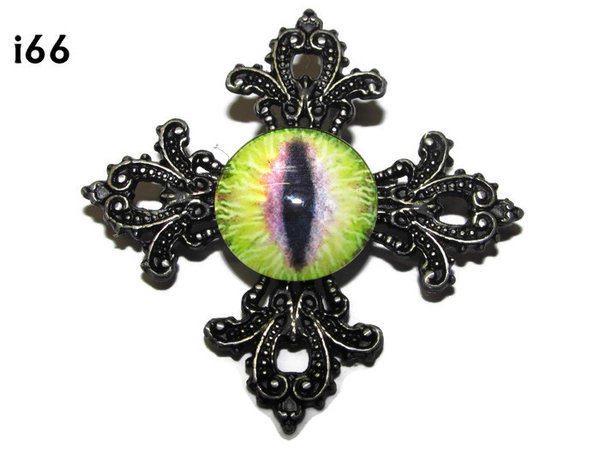 Badge, Eye i#66  Gothic Cross (55x55mm)