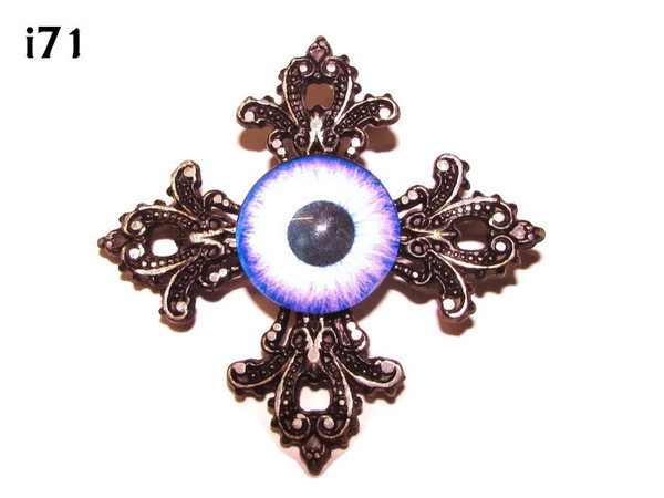 Badge, Eye i#71  Gothic Cross (55x55mm)
