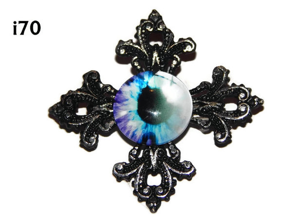 Badge, Eye i#70  Gothic Cross (55x55mm)