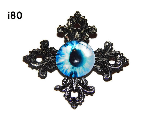 Badge, Eye i#80  Gothic Cross (55x55mm)