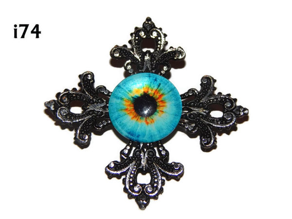 Badge, Eye i#74  Gothic Cross (55x55mm)
