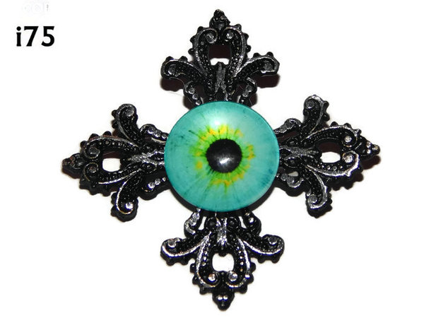 Badge, Eye i#75  Gothic Cross (55x55mm)
