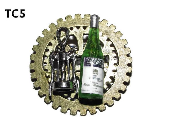 Badge / Brooch, TC05, Barman, Stacked Gears (40mm dia approx)