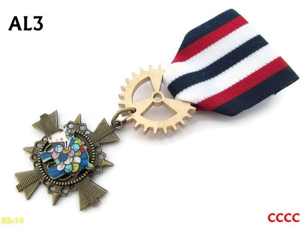 Medal, MAL03, Multicoloured Sheep