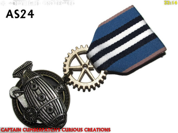 Medal, MAS24, Submarine Crawler, silver, blue navy white