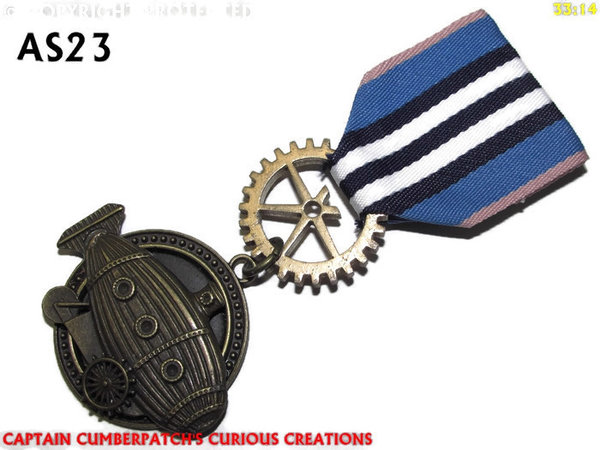 Medal, MAS23, Submarine Crawler, bronze, navy blue white