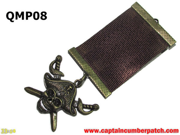 Medal, QMP08, Bronze Pirate, Brown, Elementary range - 38-40mm wide ribbon